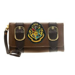 Wholesale american castles - Harry Potter wallet Hogwarts Castle Crest envelope schoolbag Folding Lady purse large PU photo card cell phone holder woman's