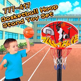 Wholesale Plastics Equipment - Hot Sale Basketball Hoop Stand Toy Set Adjustable 49.5 to 109cm in Height Children Outdoor Indoor Sports Train Equipment