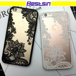 Wholesale Plastic Flowers Design - Floral Retro Design Elegant for Lady Lace Flower Hard PC+TPU Phone Case For iPhone 8 Samsung S8 DHL Free Shipping