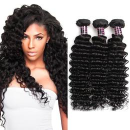 Wholesale Malaysian Hair Free Shipping - Ishow Human Hair 8A Brazilian Deep Wave 3 Bundles Wholesale Cheap Unprocessed 100% Human Hair 8-28inch Brazilian Virgin Hair Free Shipping