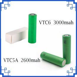 2019 bateria ecig recarregável Alta Qualidade VTC6 3000 mAh VTC5 2600 mAh 3.7 V Li-ion 18650 Bateria Recarregável Baterias para Ecig Box Mods bateria ecig recarregável barato