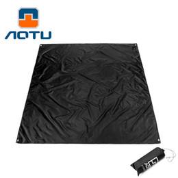 Almofadas de tenda on-line-1 pcs ao ar livre tenda pano à terra pano de piquenique almofada oxford impermeável encerado preto 210 * 200 cm