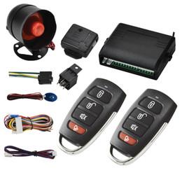 NUEVO Universal 1 Vía Protección del Sistema de Alarma de Coche del Vehículo Llave de Seguridad menos Entrada Sirena 2 Control Remoto Ladrón auto venta caliente kit desde fabricantes