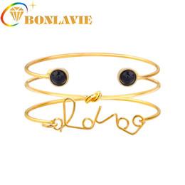 браслет для браслетов для женщин Скидка Creative New Bohemian Love Word Bracelets & Bangles For Women Gold Color Charm Multilayer Bracelet Femme Party Gifts