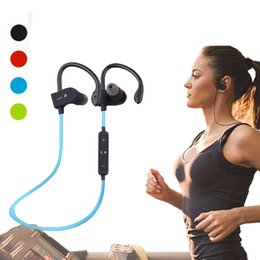 Wholesale stereo phones - Wireless Bluetooth 56S Sweatproof Sport Earphones Stereo Headphones Headsets Earbuds with Mic for iPhone 6 Samsung Phone X Xiaomi