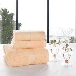 serviettes de toilette orange Promotion J pinno en peluche douce confortable coton blanc jaune bleu cyan orange serviette de bain 3pcs ensemble dans un paquet