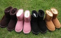Chaussures de marque plush en Ligne-HOt vendre Marque Enfants Chaussures Filles Bottes D'hiver Chaud Cheville Enfant Garçons Bottes Chaussures Enfants Bottes De Neige Enfants En Peluche Chaud Chaussure