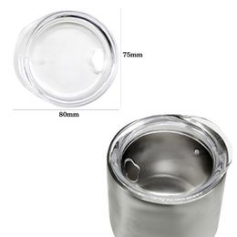 Wholesale Glass Food Covers - 9OZ Egg Cups Lids Crystal Food Grade PP Wine Glasses Lid Replaced Vacuum Lid Safe Mugs Covers