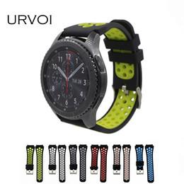 perno moderno Sconti Fascia URVOI per cinturino in silicone colorato per Samsung Gear S3 R760 R770 cinturino in silicone con spilli a sgancio rapido stile moderno 22mm