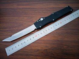 "2019 facas de bolso boker atacado Oferta Especial Preto Clássico Halo V Tanto 4.6 ""Cetim 150-4 D2 Lâmina de alumínio punho automático único automático Tactical faca Survival gear knive"