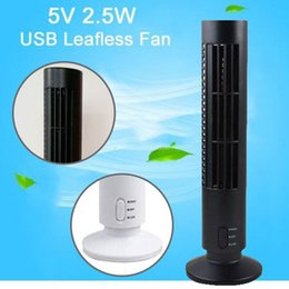 Wholesale Bladeless Fans - NEW Mini Portable USB Cooling Air Conditioner Purifier Tower Bladeless Desk Fan