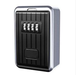 Code-sperrbox online-Lock Box 4-stellige Kombination Wasserdichte Box Aluminiumlegierung Wetterfeste Key Hider mit Resetable Code Key Storage Wall Box