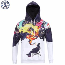 Wholesale H4 Color - Mr.BaoLong very cool trend fashion youth hooded hoodies men 3D fummy Graffiti painted men's Harajuku hooded sweatshirts H4