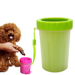 Wholesale Combs For Dogs - Dog paw cleaner portable pet foot washer pet cleaning brush cup dog feet cleaner soft silicone brush for muddy feet size medium small