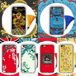 2019 3d chinesisches telefon YunRT Luxury Chinese Gericht Wind 3D geprägt Quaste Telefon Fall für iPhone XS Max XR 7 7 Plus 6 6S 8 Plus X Scrub Soft Back Cover Coque günstig 3d chinesisches telefon