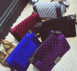 2018 shoulder bags women luxury brand Suede Velvet chain crossbody bag  handbags famous designer purse high quality female bag 7e6f7a6b9b1f5
