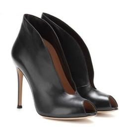 Глубокие насосы онлайн-2018 Zapatos Mujer Глубокий V Дизайнер Женщины Насосы Повседневная Уличный Стиль Высокие Каблуки Обувь Peep Toe Тонкие Каблуки Женская Обувь