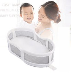 Wholesale Comfortable Folding - Baby cribs newborn kids cotton comfortable bed multifunction baby bed folding portable babies cots foldable travel crib R1827
