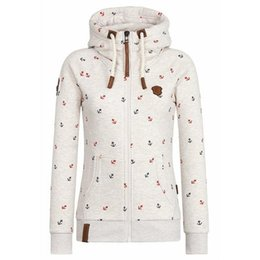 Wholesale 4xl zip up hoodie - New 2017 Fashion Hoodies Women Button Hip Hop Brand Print Hooded Zipper Hoodie zip up Sweatshirt Slim Fit girl Hoody 5XL