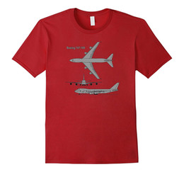 Wholesale Airplane T - 747 Airplane Hand drawn Graphic Tee Shirt plane t-shirt