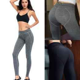 Wholesale Woman S Clothing - Wholesale New Women Fitness Sports Leggings Gym Clothes Ladies Workout Set high quality Sexy Shaping Hip Quick Dry Sportswear Yoga Pants