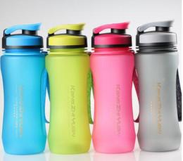 All'ingrosso-KANGZHIYUAN Bottiglia di sport portatile di grande capacità di plastica bollitore per lo spazio bottiglia di proteine sportive Shaker serbatoio di acqua 600ML 7.5 * 22 da