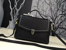 Wholesale miss handbags - AAA 1026 27cm Serpenti Forever Genuine Leather Miss Bag Handbags,Saffiano Leather,Come with Dust Bag+Box,Free Shipping