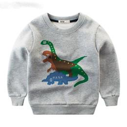 Jungen-beiläufige Vlies-Sweatshirt-Mantel-Karikatur-Dinosaurier-Mädchen-Kapuzenpullis Outwear-Frühlings-Kinderkleidung scherzt langärmliges T-Shirt von Fabrikanten