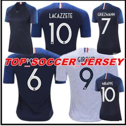Wholesale Men Flashing Women - Thailand France Soccer jerseys Women 2018 world cup Maillot de foot GRIEZMANN 7 POGBA 6 MBAPPE 10 KANTE Jersey football DEMBELE soccer shirt