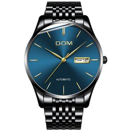 Wholesale Blue Hong Kong - Mechanical watch mens watch DOM Hong Kong brand watches automatic high-end watch male M-89