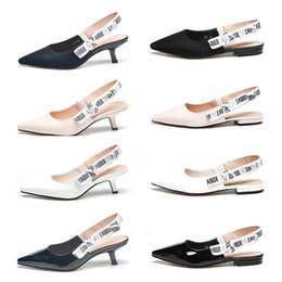 Wholesale white wedding low heel sandal - Brand D Shoes Woman High Heels Pumps High Heels 6.5CM Women Shoes Wedding Shoes Sandals Black Nude white 34 40