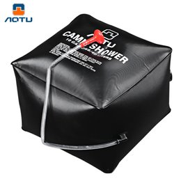 Wholesale Outdoor Camp Shower - Aotu PVC Cube Emergency Water Bath Bag Camp Shower Solar Shower Bags 40L Portable Bath Drop Shipping OCT for Outdoor Activities B