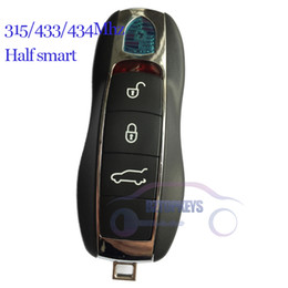 Wholesale Remote Control Cm - DHL Free shipping 5pcs Keyless entry key control half smart system 315 433 434Mhz for Porsch Cayenn Panamer 911 918 smart car remote fob