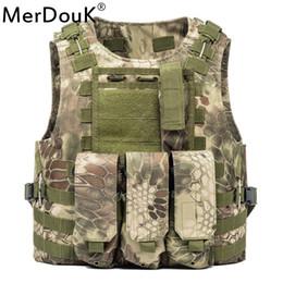 Canada Gilet de déchargement Tactical Molle Air doux plaques de protection Colette Soldat Gilet de combat Army Trois gilets de clip cheap army combat vest Offre