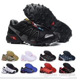 Canada salomon avec boîte salomon  vitesse cross IV Speedcross 4 4s Trail Runner Dark Red Hommes Chaussures de course Chaussures de sport Mode Sneaker Chaussures de plein air pas cher eur8-12 cheap iv box Offre