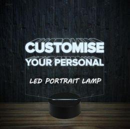 2019 светодиодная кнопка питания Эксклюзивный элегантный пользовательский дизайн портрет светодиодные лампы Night Light 7 RGB огни USB питание сенсорная кнопка подарочная коробка Dropshipping дешево светодиодная кнопка питания