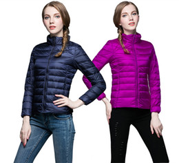 e6aa4ffa123 90% White Duck Down Parka For Women 2018 Brand New Designer Women  Ultralight Down Jacket Winter Outwear Zipper Thin Coat