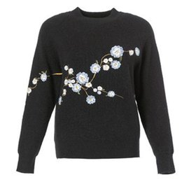 Wholesale Double Collar Shirt Women - 2017 autumn and winter new style knit jacket Europe and the United States women's knit shirt half-collar bottoming hedging embroidered swea