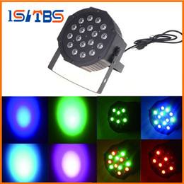 Wholesale Rgb Led Dmx - 54W 18X3W Led Par Lights RGB Stage Lighting DMX512 Led Lights For Party KTV Disco DJ Lighting AC 85-265V