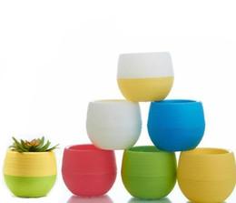 7 * 7cm vasi da fiori all'ingrosso Mini vaso da fiori giardino infrangibile vasi vivaio di plastica per piante succulente da