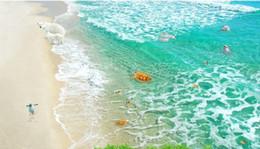 Wholesale Mediterranean Flooring - room modern wallpaper Clear sea beach 3D spray floor 3 d wallpaper for walls