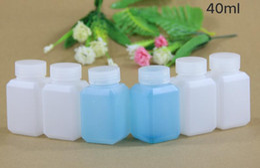 Полупрозрачный квадрат пластик онлайн-(200pcs/lot) 40ml полупрозрачная толстая квадратная бутылка HDPE, пластиковая бутылка, жидкая бутылка, маленькая бутылка