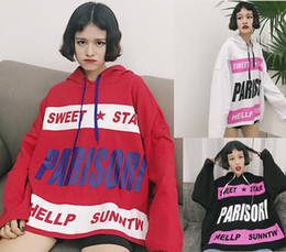 Wholesale types women sweaters - A new type of dress thin loose letters hooded long sleeved Sweater Girl Students