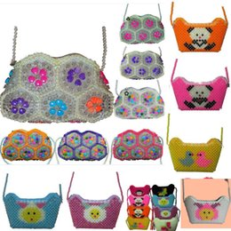 2020 aufbewahrungstasche handgefertigt Handmade Crystal Beaded Bag New One Shoulder Backpack Luxury Bag For Children Kids Women XMas Evening bags Storage Bag DHL HH7-1833 günstig aufbewahrungstasche handgefertigt