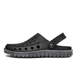 2019 медицинская обувь POOLOOP Новый 2018 удобные мужские сандалии скольжения на Крокус сад забивает бассейн пляж обувь для мужчин повседневная работа медицинская обувь дешево медицинская обувь