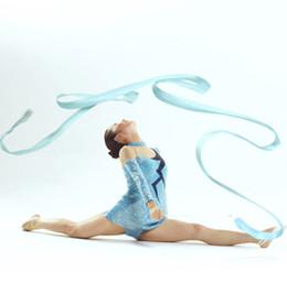 d828ef6ec Fitas De Dança Ginástica Ginástica Rítmica Rod Art Ballet Twirling Varas  Comprimento Total 4 m Atacado fitas de ginástica rítmica saída