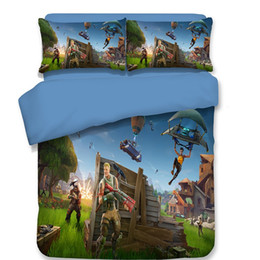 Wholesale Bedroom Sets - 3D Printed Fortnite Bedding Sets For Home Bedroom Quilt Covers With Double Pillow Case Duvet Cover Suit Fashion 215bt BB