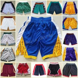 Wholesale pants green - High Quality Cheap Running Basketball Shorts Men 1992 Dream Team Shorts 1996 All Star Pants Sweatpants Breathable Basketball Pants Polyester