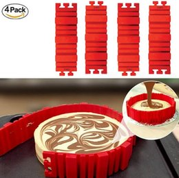 Wholesale Cake Set Toys - 4 Pcs set Silicone bakeware Magic Snake cake mold DIY Baking square rectangular Heart Shape Round cake mould pastry tool Learning Toys
