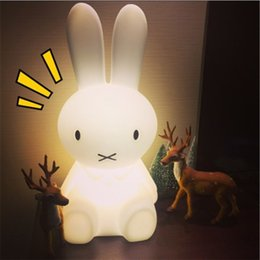 Wholesale Lighted Fall Decorations - 50 cm Baby Bed Room Rabbit Night light Anti-fall Children Lamp Christmas Gift Bedside Decoration Kids Lovely Lights
